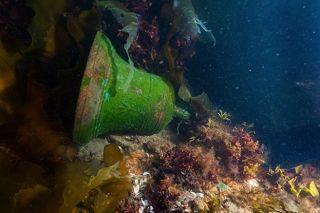 Bell of HMS Erebus underwater