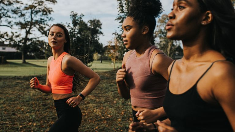 Group of women out for a run