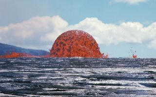 Lava dome fountain