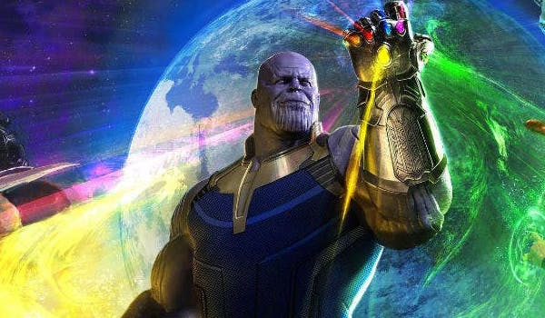 Thanos in the Infinity War poster