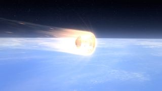 Artist's rendition of SpaceX's Dragon spacecraft as it returns to Earth. Dragon's PICA-X heat shield protects the vehicle as it returns to Earth like a burning comet.
