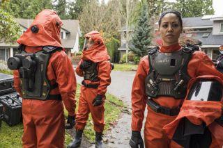 Riann Steele as Finola Jones in NBC's Debris