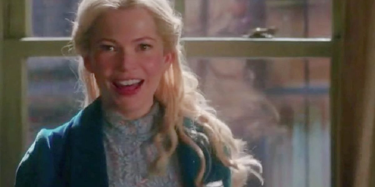 Michelle Williams in The Greatest Showman.