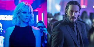 Atomic Blonde Lorraine Broughton and John Wick Side By Side