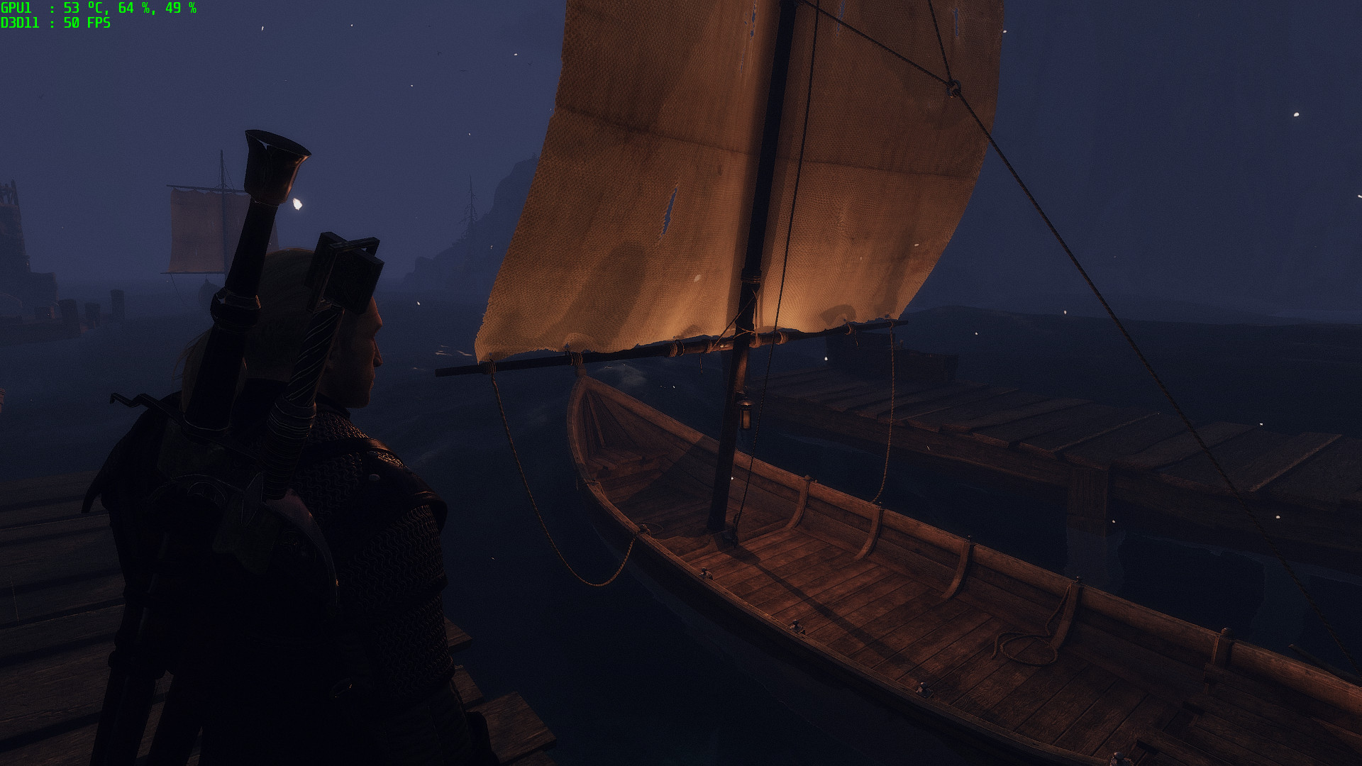 Best Witcher 3 Mods - Boat Lamp