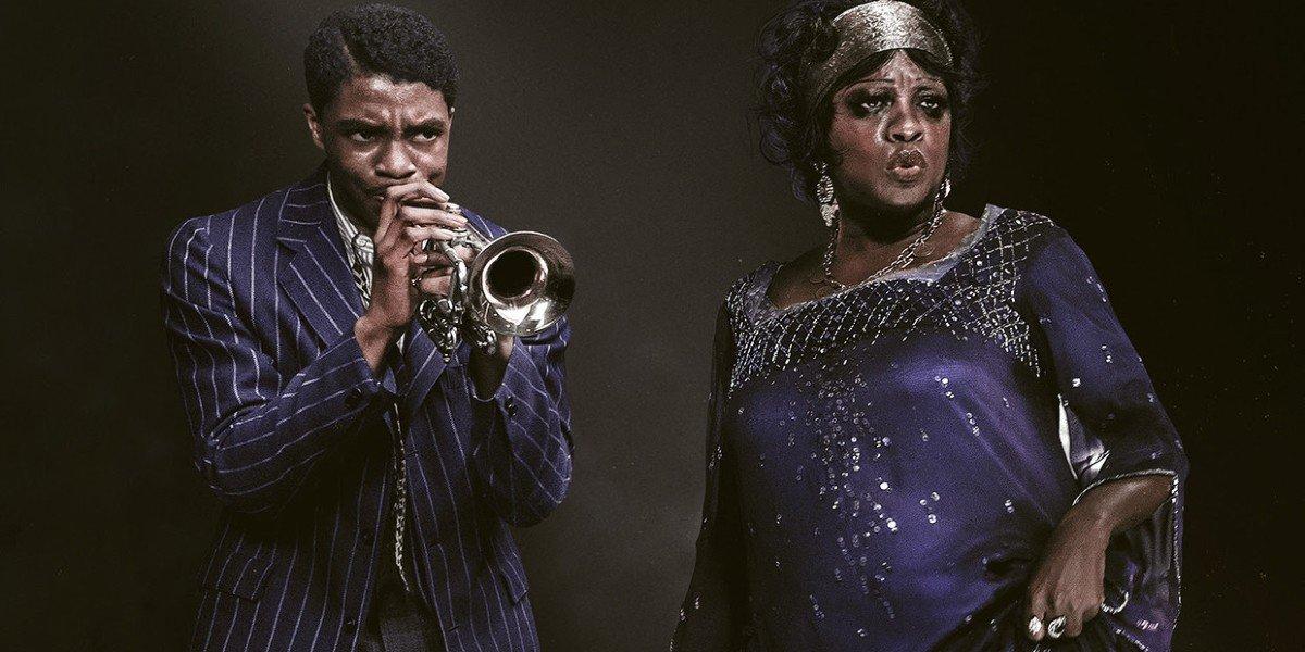 Chadwick Boseman and Viola Davis in Ma Rainey's Black Bottom's Poster