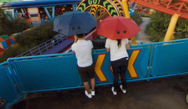 colorful umbrellas at Disney World