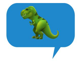 T. rex emoji