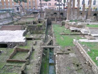 place where Julius Caesar was stabbed.