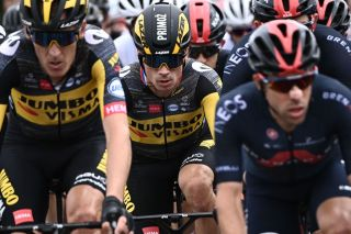 Primoz Roglic during stage 1 at the Tour de France