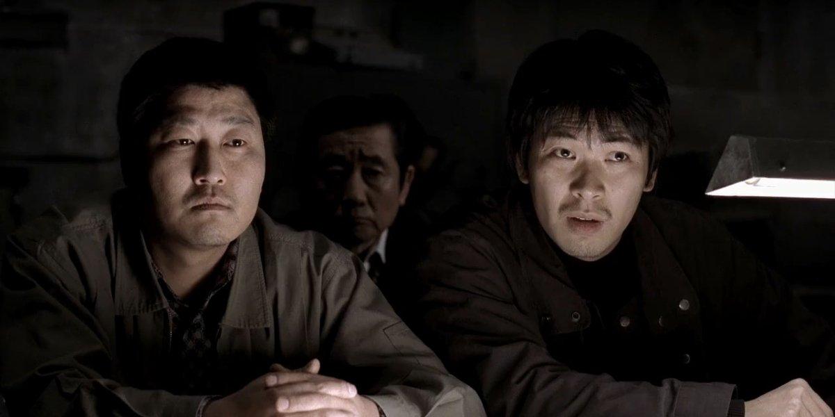 Kang-Ho Song and Kim Sang-kyung in Memories of Murder