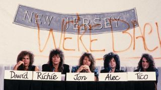 Bom Jovi at the press conference to launch New Jersey