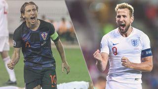 England vs Croatia live stream at Euro 2020 — Harry Kane of England and Luka Modric of Croatia