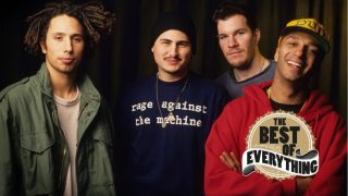 a press shot of rage against the machine