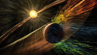 Solar Storm Hitting Mars
