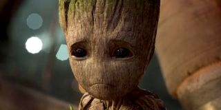 Baby Groot crying in Guardians 2