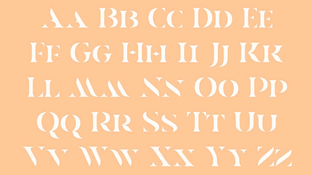free fonts: Casa Stencil