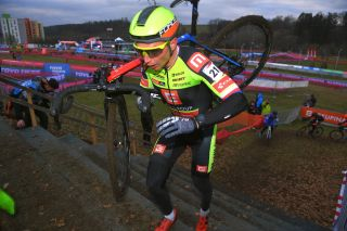 TABOR CZECH REPUBLIC NOVEMBER 29 Michael Boros of Czech Republic during the 24th Tabor World Cup 2020 Men Elite CXWorldCup UCICX ucicycling on November 29 2020 in Tabor Czech Republic Photo by Luc ClaessenGetty Images