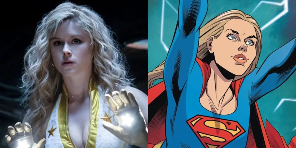 Erin Moriarty and Supergirl