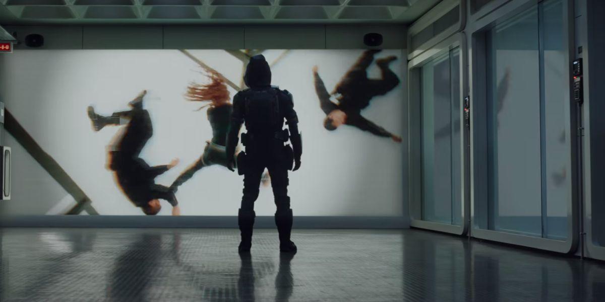 Taskmaster watching Black Widow