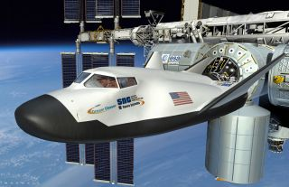 Dream Chaser Docking with the International Space Station