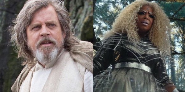 Luke Skywalker and Mrs. Which side by side