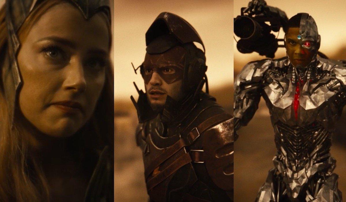 Mera, Flash and Cyborg in Knightmare future