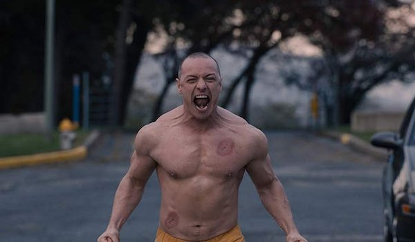 Glass James McAvoy as the Beast screaming