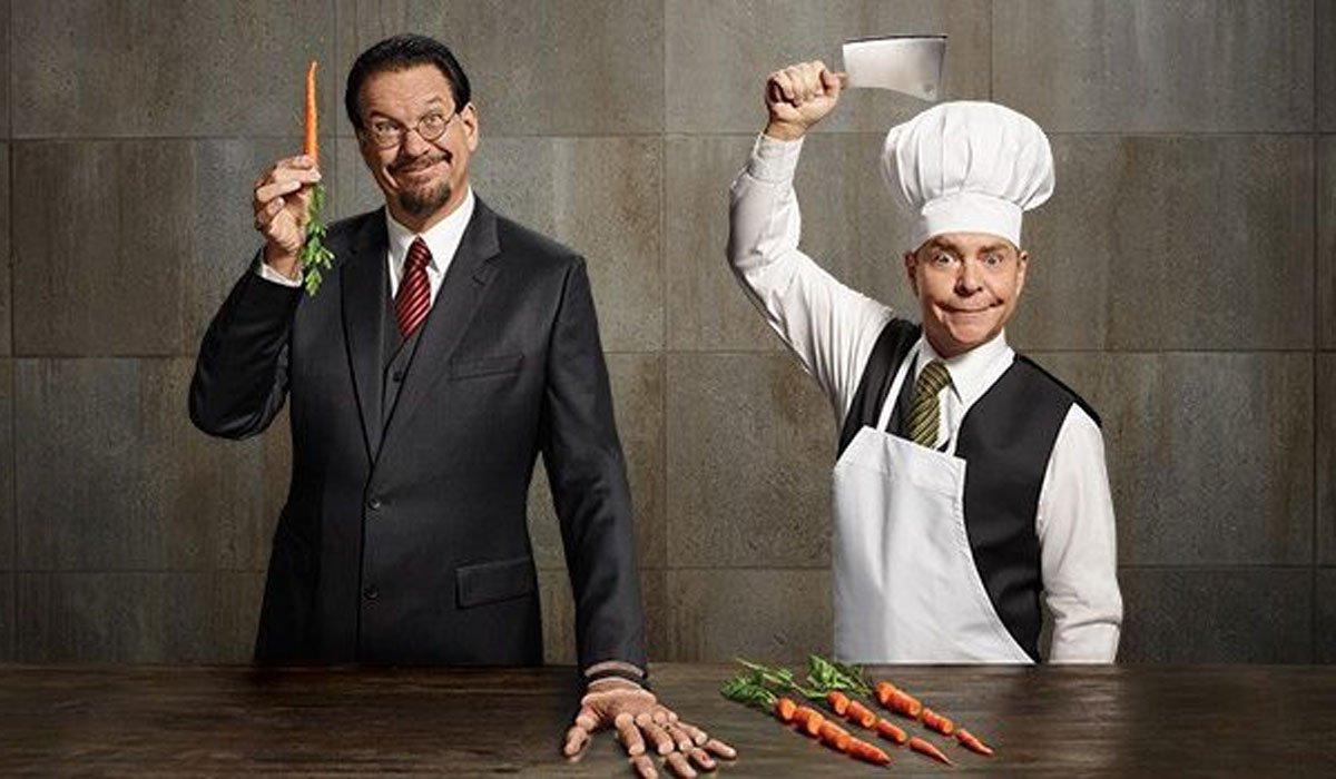 Penn And Teller Chopping Vegetables, Hands