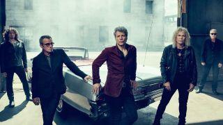 A press shot of Bon Jovi taken in 2016