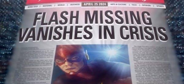 The flash newspaper headline