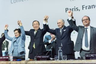 Celebration for the Paris climate agreement