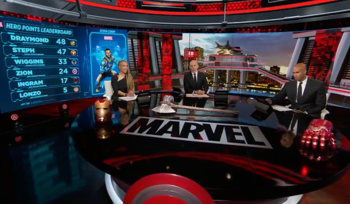 ESPN 2 Commentary Team on Marvel Set