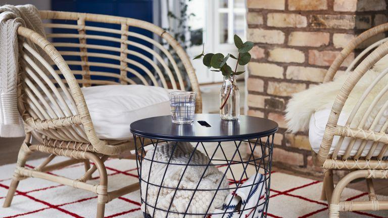 Five outdoor IKEA furniture pieces, rattan furniture