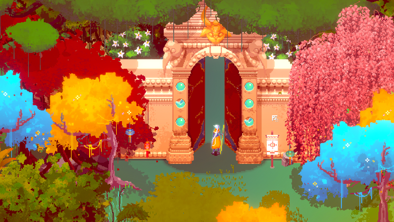Okami meets Hyper Light Drifter in gorgeous free adventure Atma | PC Gamer