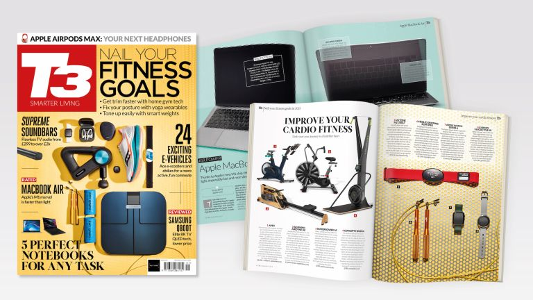 Spreads and the cover of T3 316, featuring the coverline 'Nail Your Fitness Goals'.