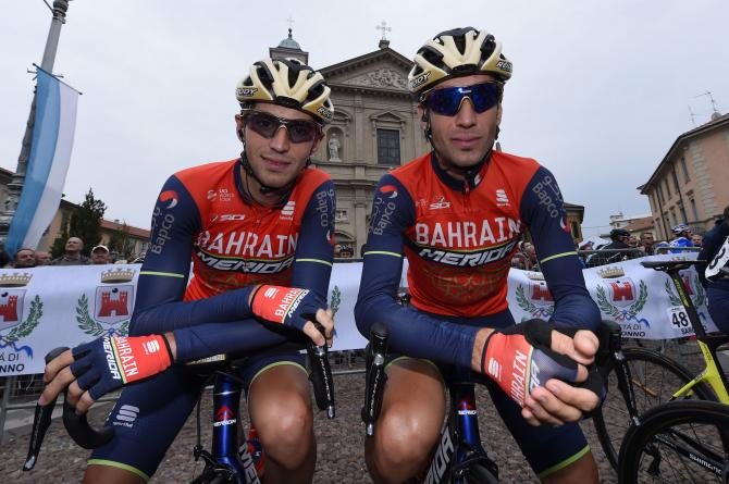 The Nibali brothers Antonio and Vincenzo