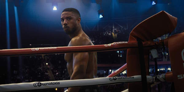 Creed II Michael B. Jordan in the boxing ring