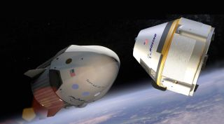 SpaceX Crew Dragon and Boeing CST-100 Starliner