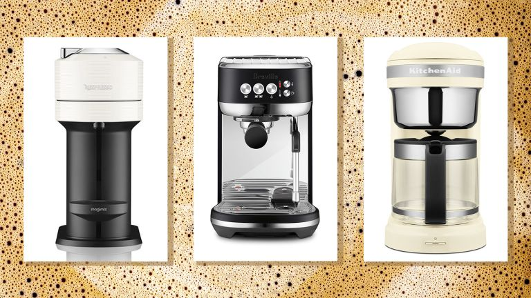 best coffee machine deals, a pick of our best coffee machines on a coffee background