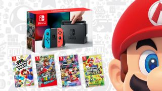 Get a Nintendo Switch, a game, and a really cool Mario pin for less