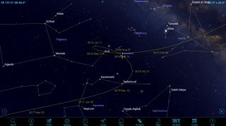 Asteroid path