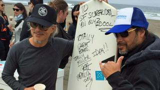 Kirk Hammett and Robert Trujillo on Ocean Beach