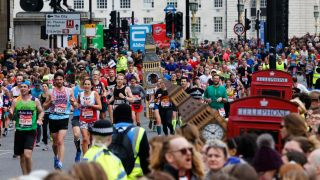 The runners in the 2020 London Marathon