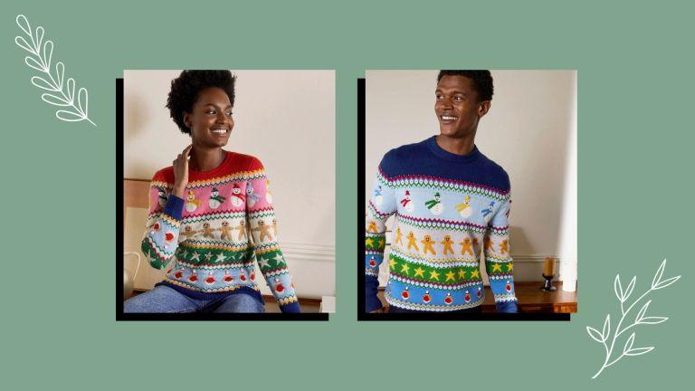 best matching christmas jumpers boden fairisle knits