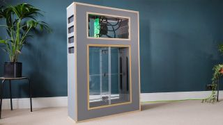 A Custom Built Gaming PC Using Magnets And An Acrylic Bellows Design To Cool Internal Components