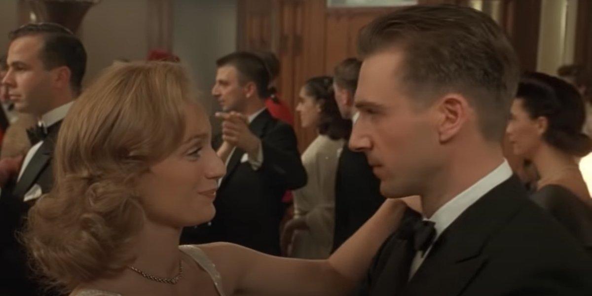 Juliette Binoche and Ralph Fiennes in The English Patient
