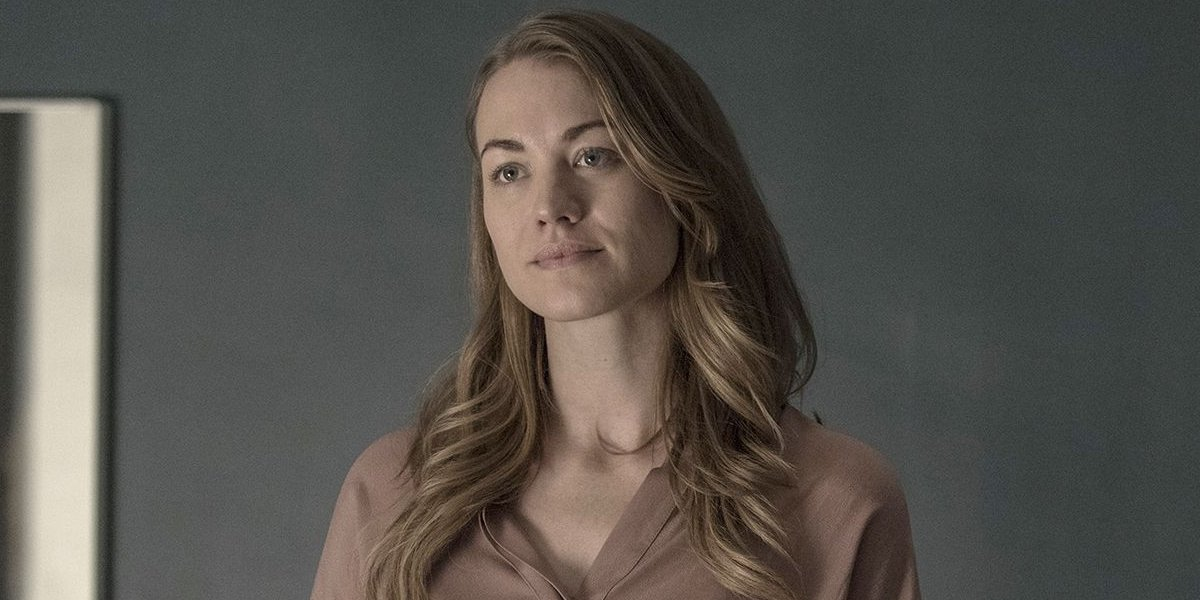 Yvonne Strahvoski as Serena Joy on The Handmaid's Tale