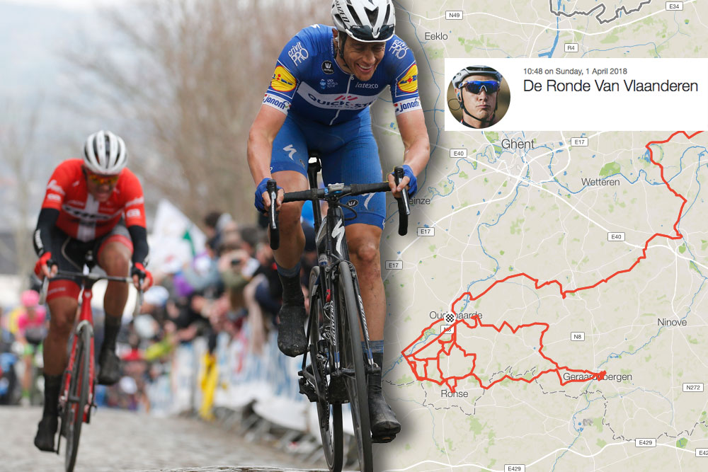 Niki Terpstra uploads Tour of Flanders ride to Strava, revealing the stats behind his stunning victory