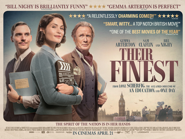 Their Finest Quad Gemma Arterton Bill Nighy